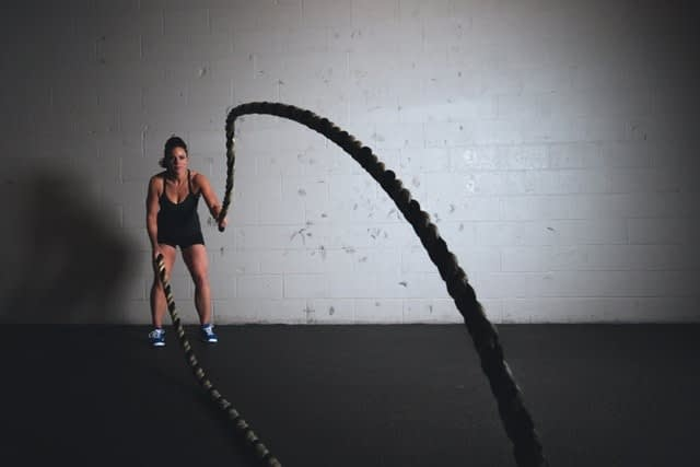 battle ropes hiit workout
